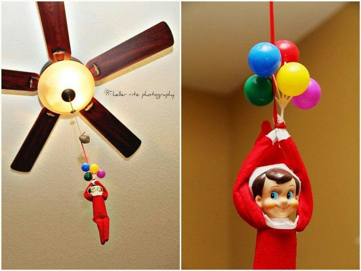 40 best elf on the shelf images on pinterest christmas for Elf on the shelf balloon ride