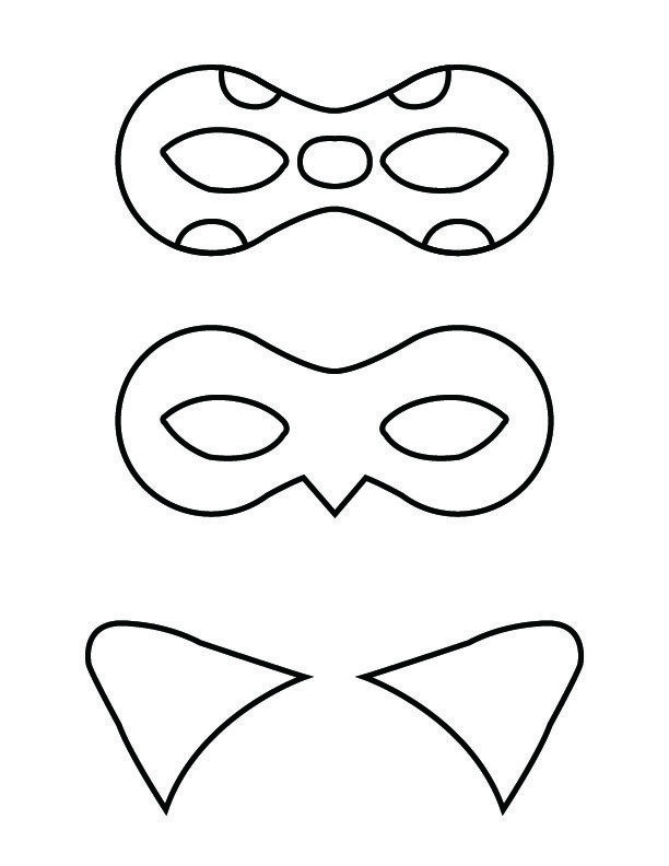 diy miraculous tales of ladybug and cat noir masks printable masksfree