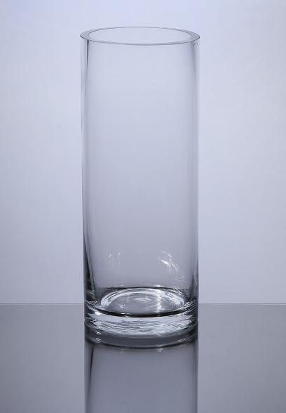 """Cylinder Glass Vase 4"""" x 8"""", 12 p/c - Cylinder Glass Vases by DFW Glass Vase Wholesale Centerpieces for wedding?"""
