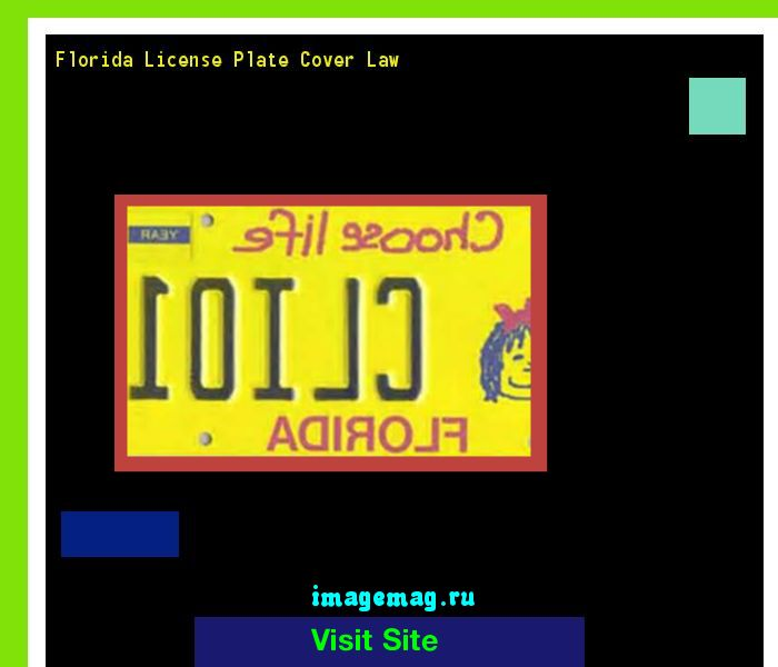 Florida license plate cover law 145850 - The Best Image Search