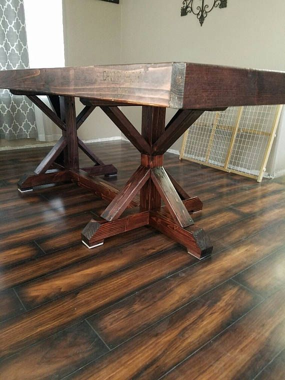 Beautiful farm style dining table. This measures 8ftx4ft with standard chair height. Please contact us for a customized order. Sorry, but this item cannot be shipping, so it is only available to the LAS VEGAS area, but we do offer free delivery. *Chairs not included, but can
