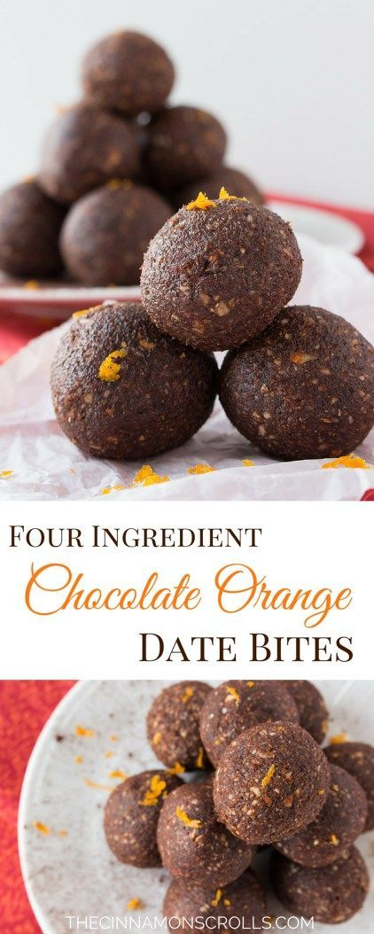 Chocolate Orange Date BItes: 4 ingredients, 10 minutes! Tastes like a Terry's Chocolate Orange! | thecinnamonscrolls.com @cinnamonscribe
