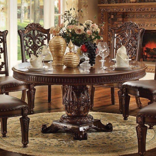Vendome 72 Inch Round Dining Table Cherry With Images Round