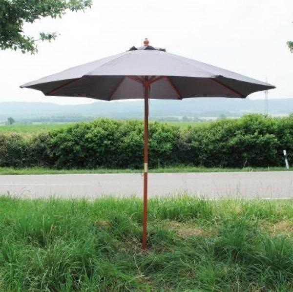 Holz Sonnenschirm Blau Grau 2 7m Sonnenschirm Sonnenschirm Holz Schirm