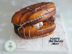 Baseball Glove Cake - Cake by Sweet Tooth Confections