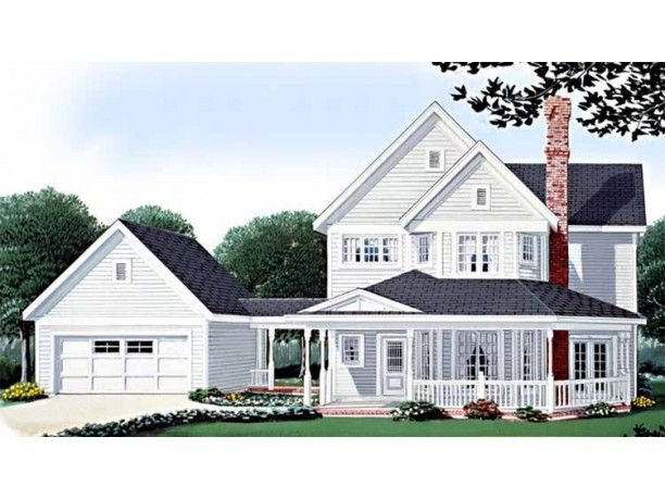 Farmhouse House Plan with 1832 Square Feet and 3 Bedrooms from Dream Home Source | House Plan Code DHSW73962