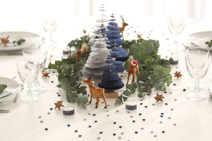 Centre de table sapins pour Noël