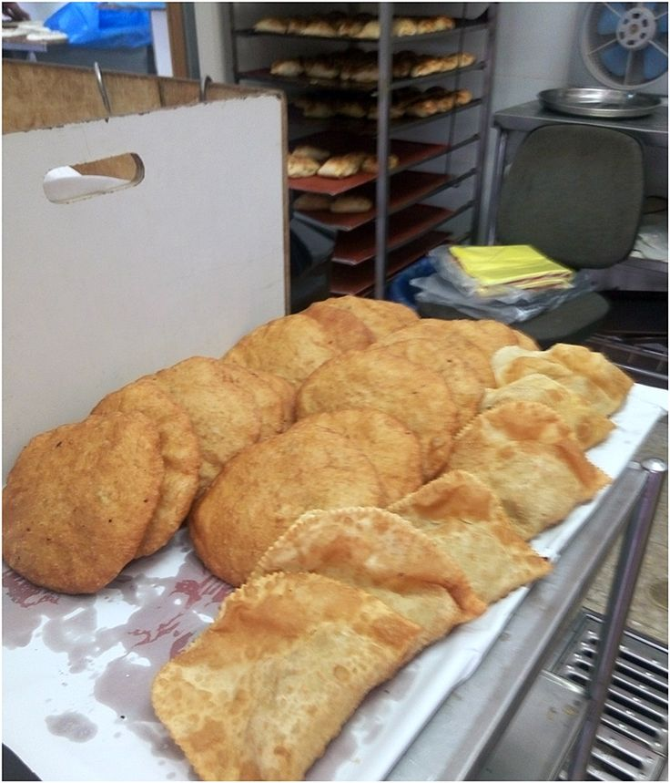 Deep fried meat pies in a Bukharan bakery in the Shapira neighborhood