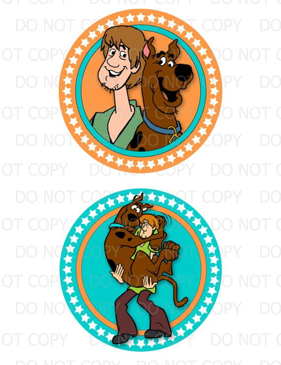 Printable DIY Scooby Doo Theme 5 Centerpieces by onelovedesignsllc