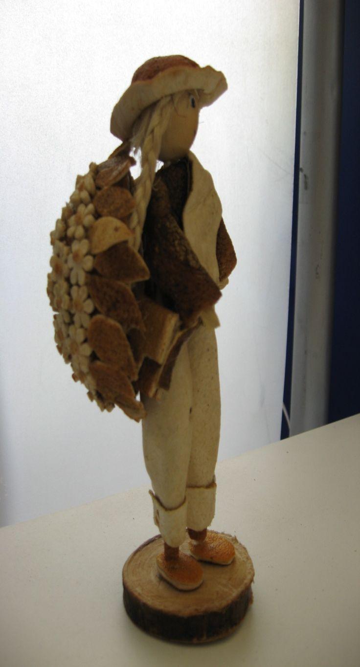 Silletero elaborado con cáscara de naranja.