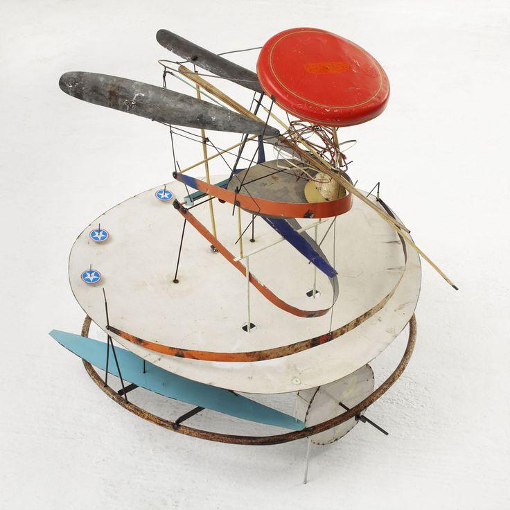 Francesco Bocchini. la-fidanzata-del-leone-2012-cm-diametro-100x105-meccanismo-a-basamento-olio-su-lamiera-di-ferro