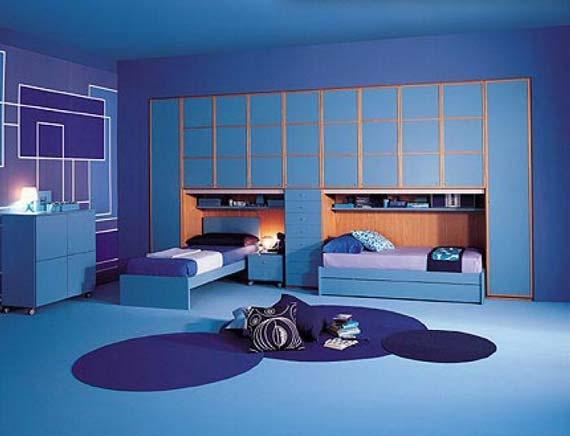 Blue Teen Bedroom Idea