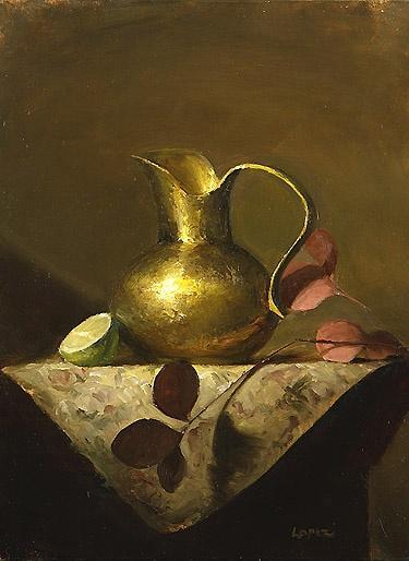 Leah Lopez :: Paintings :: Golden Pitcher