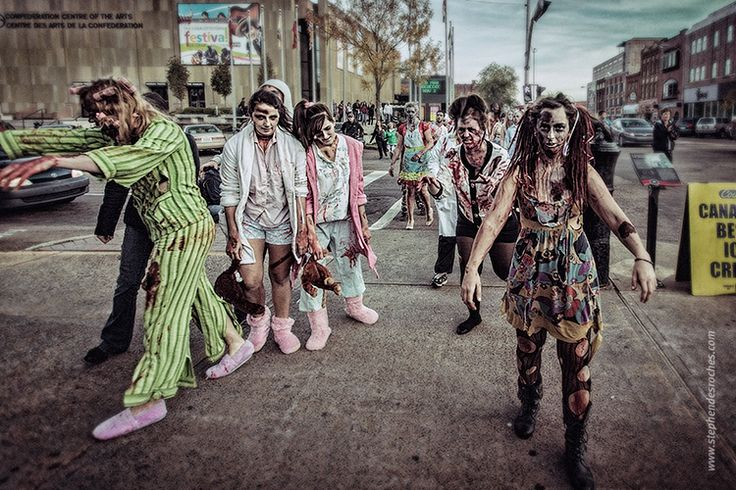 Zombie Walk in Charlottetown, PEI
