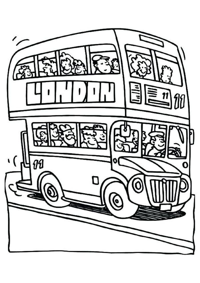 Bus Coloring Pages Collection Free Kids Coloring Pages Coloring