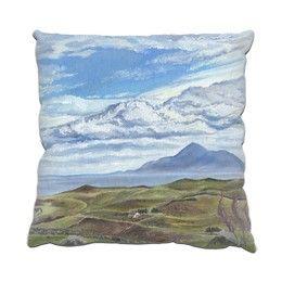 My Clare Island painting is now available on a range of printed gifts from @Zippi https://www.zippi.co.uk/portfolio/suzannehole/clare-island #zippi #art #gifts #homeware #cushion #mayo #ireland
