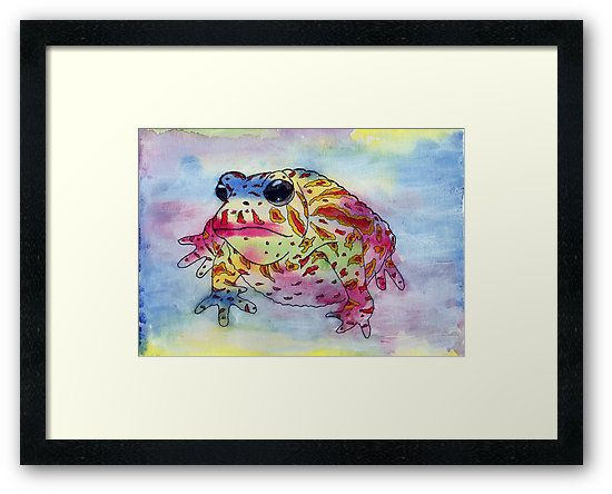 You can now get prints of the Toad. The original is available on my website