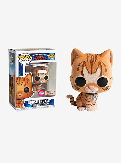 bfac8ce57f3 Marvel Captain Marvel Goose The Cat Flocked Vinyl Bobble-Head - BoxLunch  Exclusive