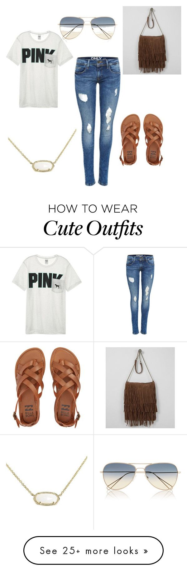 """""""Daily outfit"""" by toriataylor17 on Polyvore featuring Billabong, Victoria's Secret, T-shirt & Jeans, Kendra Scott and Isabel Marant"""