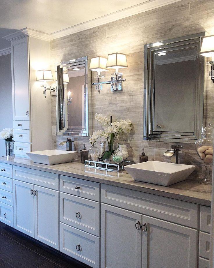 Master bathroom remodel blending traditional and modern ...