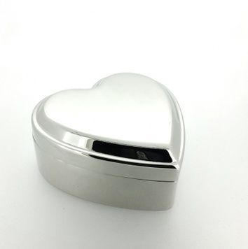 Box - SILVER HEART - Lined