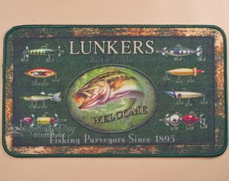 "Southwestern Door Mat 18""""x30"""" -Fishing Lures (dm15)"