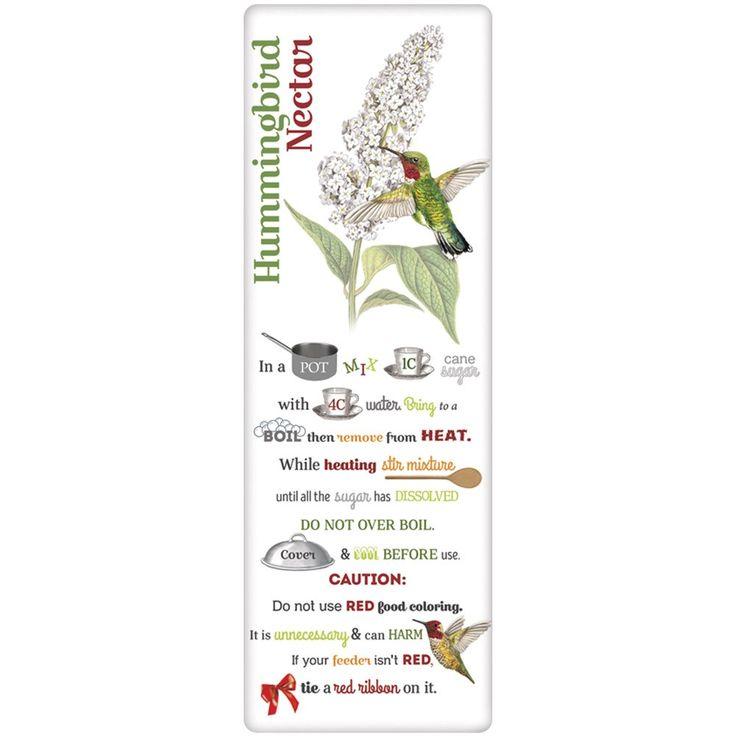 Hummingbird Nectar Recipe Towel