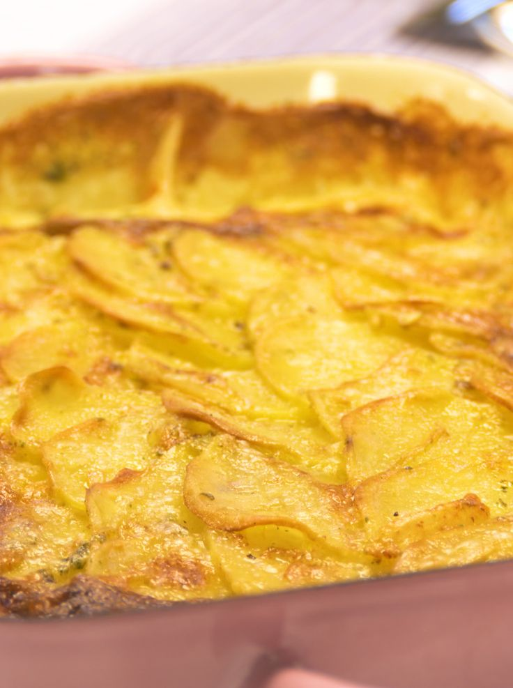 Kartoffelgratin - sahnig, knusprig, lecker