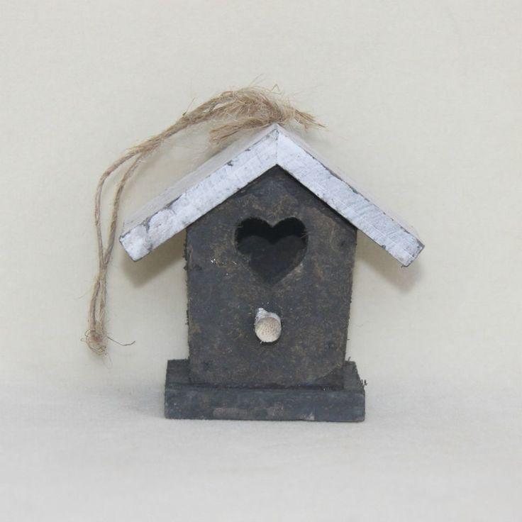 Casetta degli uccellini birdhouse decorazione country in legno 1 pz