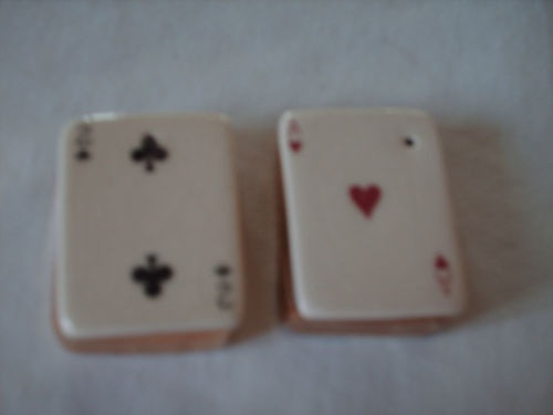 Vintage Go with Mini Arcadia Playing Cards Salt and Pepper Shakers s P | eBay