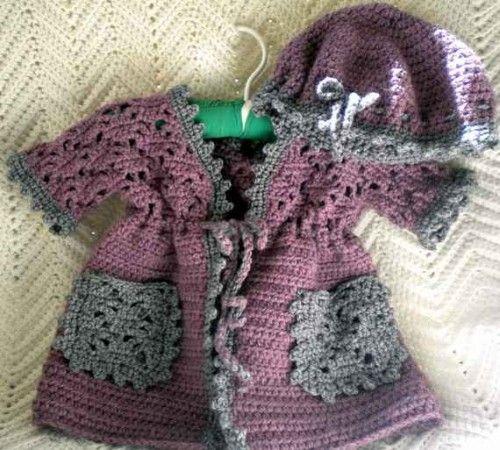 crochet baby sweaters free patterns ✿⊱╮Teresa Restegui http://www.pinterest.com/teretegui/✿⊱╮