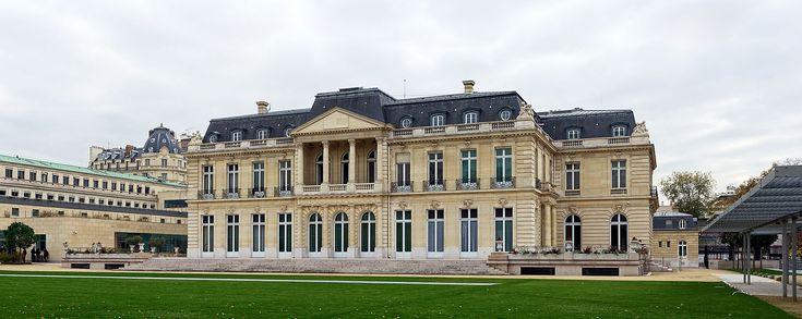 Château de la Muette (1922) 2, rue André Pascal Paris 75016. Architecte : Lucien Hesse. Façade sur jardin.
