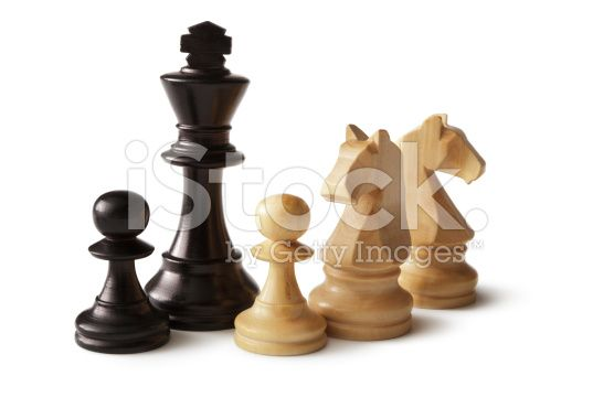 Chess: King, Knights and Pawns royalty-free stock photo