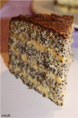 """Рецепт """"Нежный маковый торт"""""""