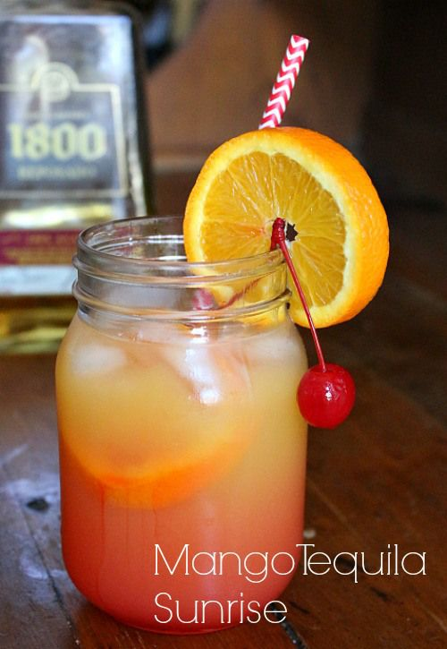 A classic tequila sunrise is kicked up with the addition of mango. If you can't go on vacation this is the next best thing. restlesschipotle.com