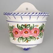 ceramic wall flowerpot, flowers, handmade orza de pileta flores, artesanía, alfarería, maceta