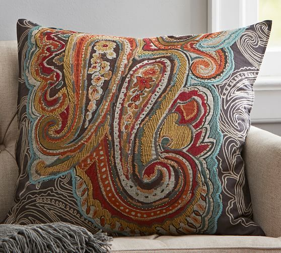 Houston Paisley Pillow Cover Pottery Barn 80 00