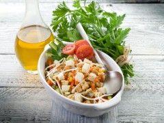 salad with tofu and vegetables-insalata di tofu e vegetali