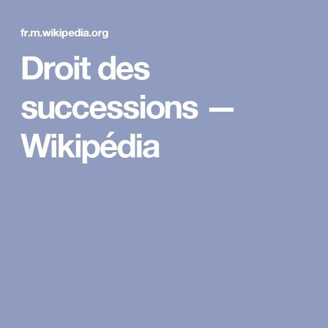 Droit des successions — Wikipédia
