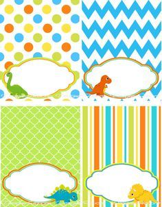 Dinosaur Food Table Tent Instant Download By