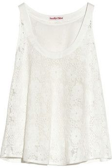 See by Chloé Embroidered organza top | NET-A-PORTER