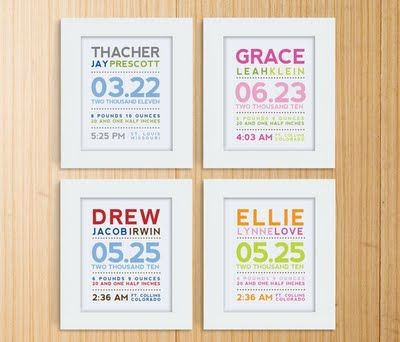 DEFINITELY making these for my friends that have babies :)  This is right up my gift giving alley....and have ways to add more creativity to it too!!  Have a baby....I'll make you one!: Births Announcements, Gift Ideas, Baby Gifts, Cute Ideas, Birth Announcements, New Baby, Gifts Idea, Crafts, Kids Rooms