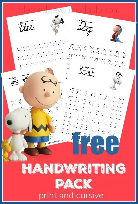 Hurry and grab these super cute Peanuts Handwriting printable set - print and cursive edition for FREE!