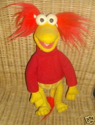 RARE VINTAGE FRAGGLE ROCK RED 80S BENDY FOAM TOY | eBay