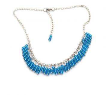 Blue Fringe Beaded Necklace by talenaztreasurez for $20.00 #zibbet #jewelry