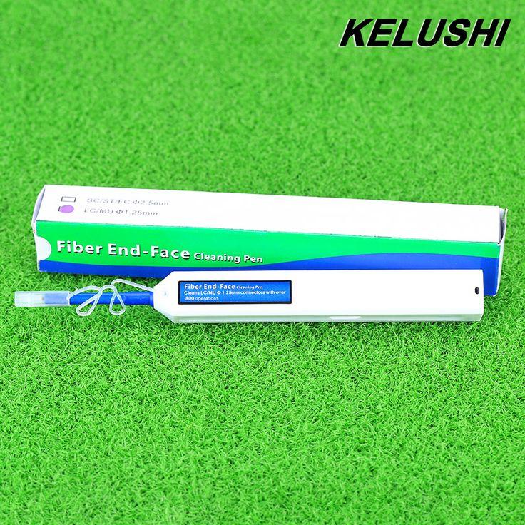 """מנקה סיבים אופטי עט KELUSHI חדש שדרוג LC/MU 1.25 מ""""מ מחבר אופטי Fibre מנקה בלחיצה אחת ניקוי כלים"""