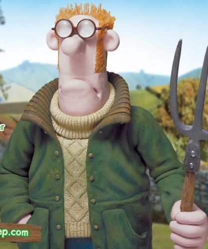 I think someday I need to knit the farmer's sweater from Shaun the Sheep.