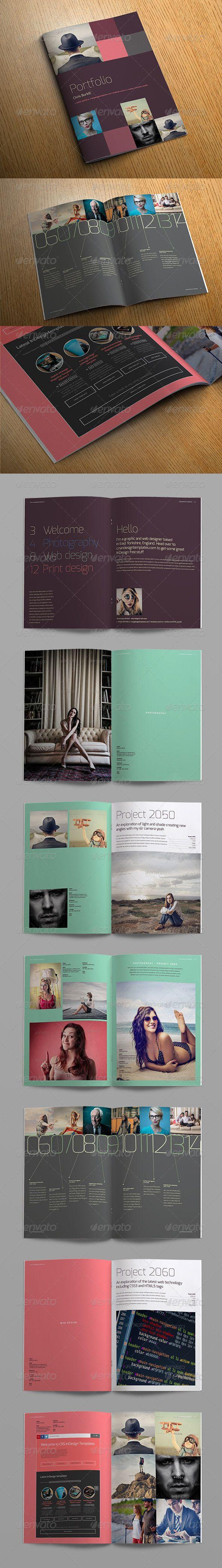 Exo Portfolio Template - #Photo #Albums Print #Templates Download here: https://graphicriver.net/item/exo-portfolio-template/7742833?ref=alena994