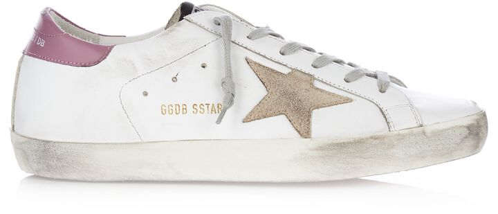 GOLDEN GOOSE DELUXE BRAND Super Star low-top leather and suede trainers sneakers fashion style shoes