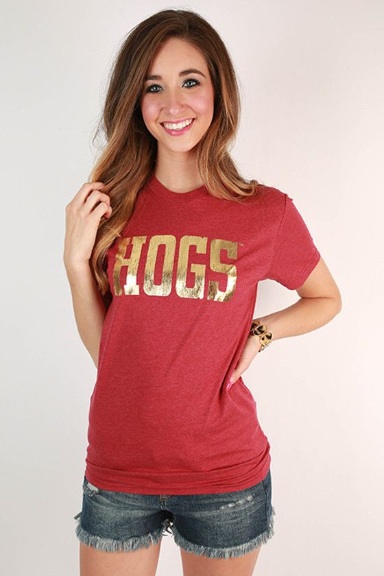 HOGS Gold Foil Distressed Crew Tee